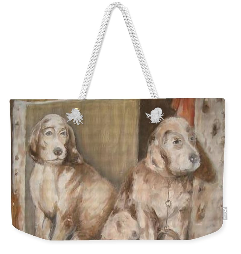 Realistic Weekender Tote Bag featuring the painting Monotony by Rushan Ruzaick