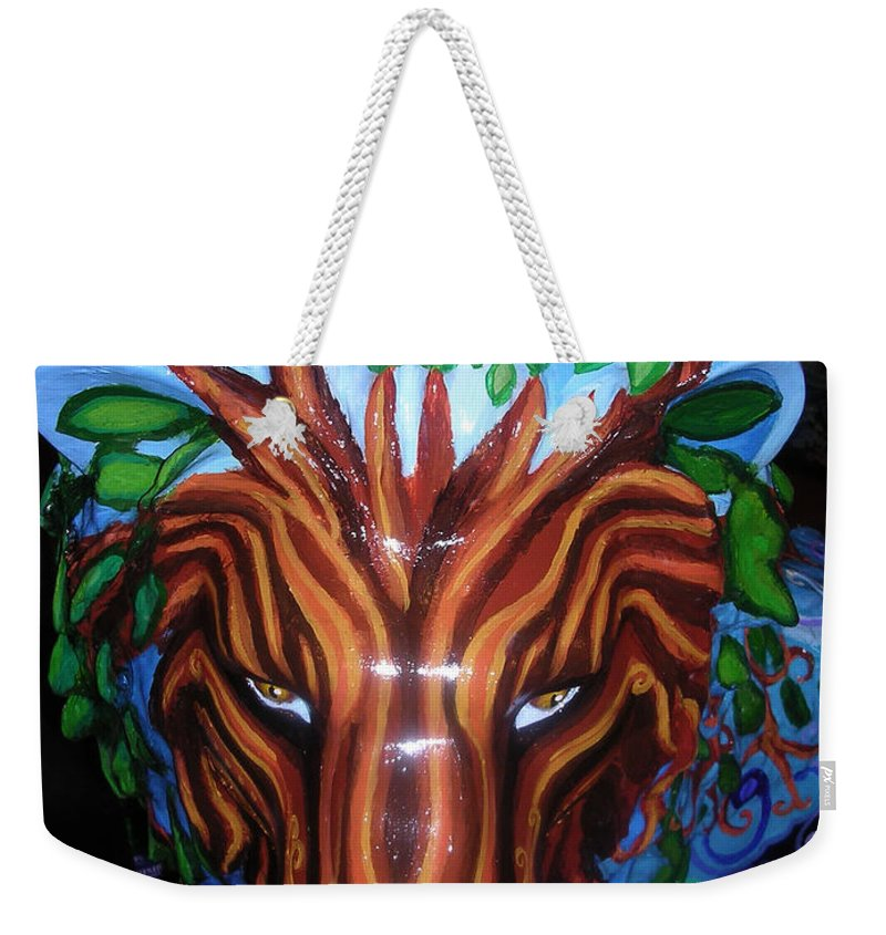 Lion Weekender Tote Bag featuring the painting Monsieur De Lioncourt by Genevieve Esson