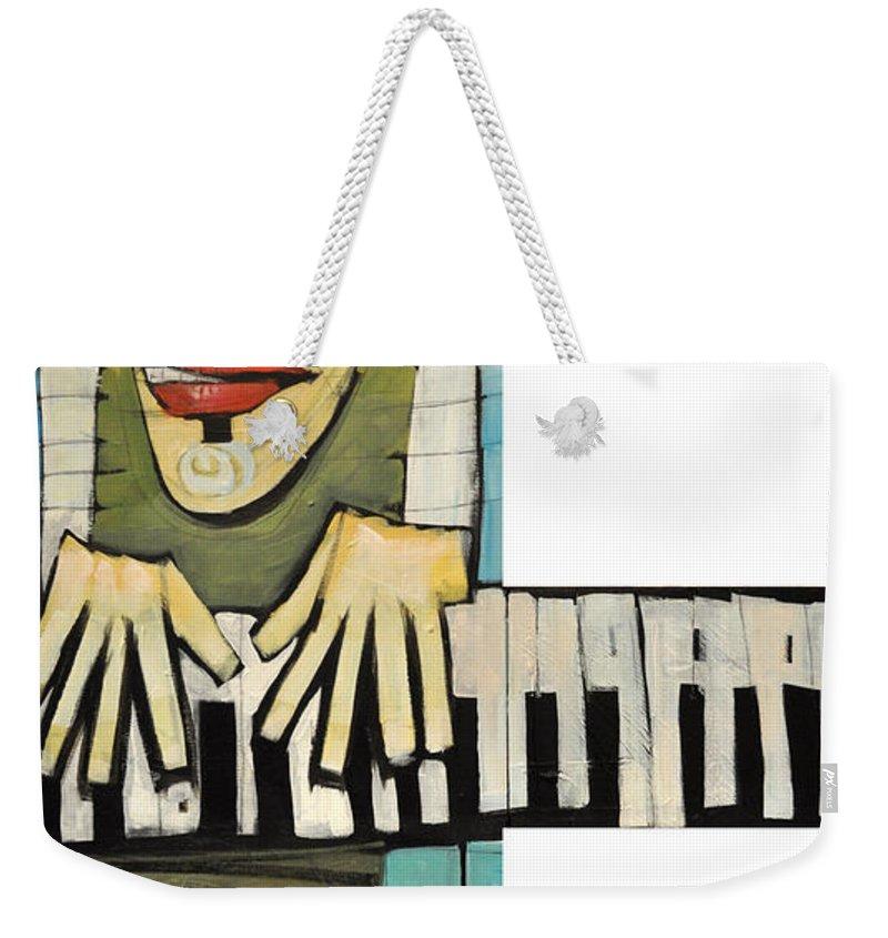 Piano Weekender Tote Bag featuring the painting Monsieur Keys by Tim Nyberg