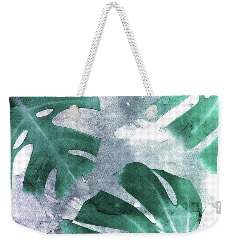 Leaf Mixed Media Weekender Tote Bags