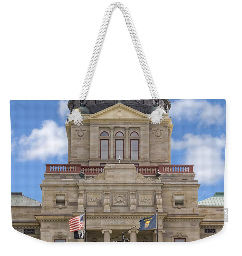 Architecture Weekender Tote Bag featuring the photograph Montana Capitol Building by Jerry Fornarotto