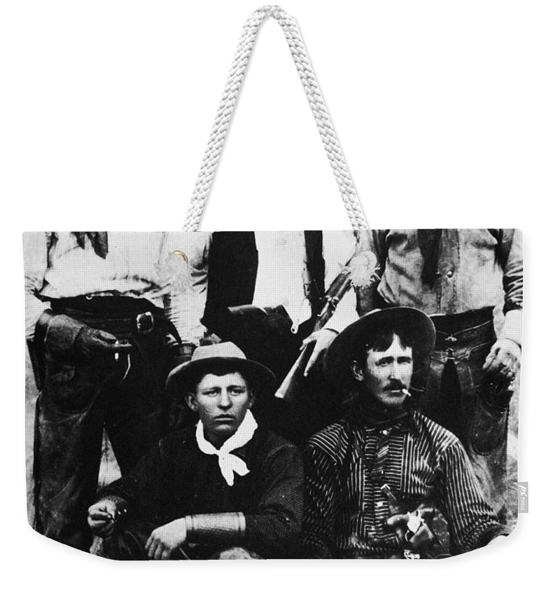 19th Century Weekender Tote Bag featuring the photograph Montana Cowboys by Granger