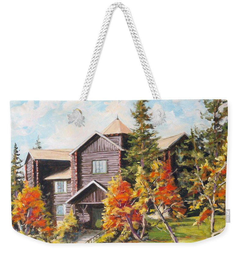Landscape Weekender Tote Bag featuring the painting Montebello by Richard T Pranke