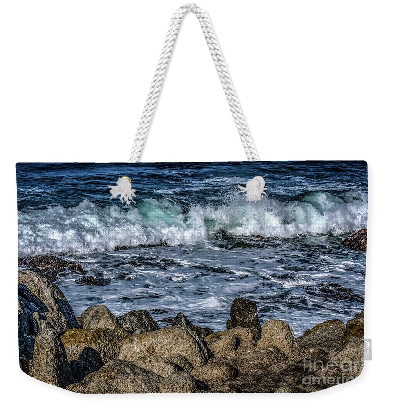 Monterey Weekender Tote Bag featuring the photograph Montery County Coast, California by Yvette Wilson