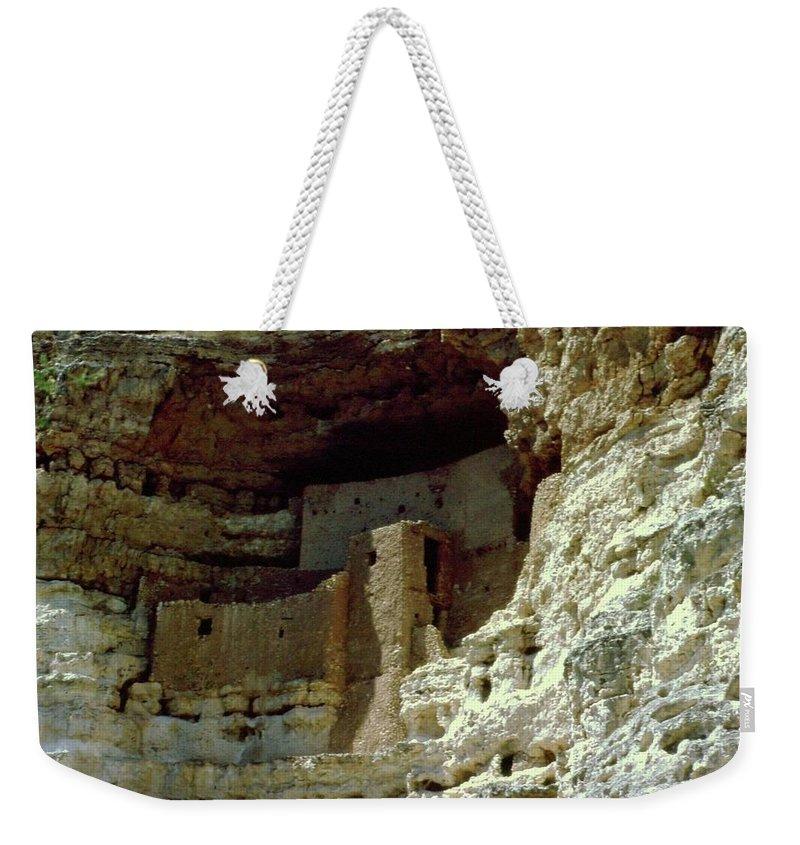 Arizona Weekender Tote Bag featuring the photograph Montezumas Castle by Gary Wonning