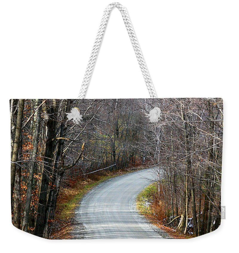 Road Weekender Tote Bag featuring the photograph Montgomery Mountain Road by Deborah Benoit