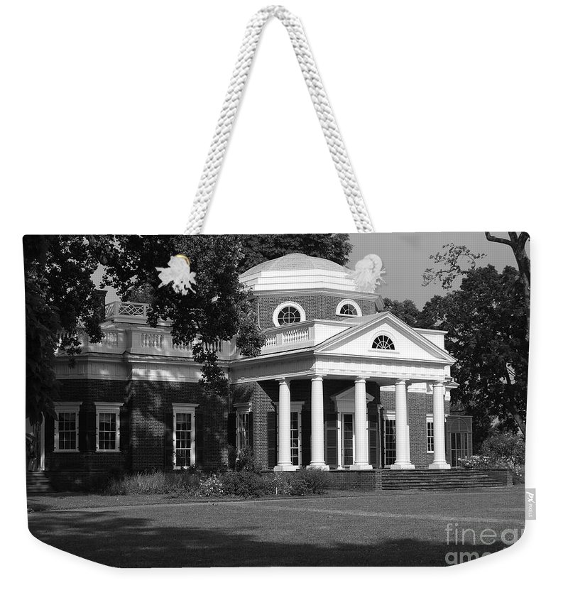 Monticello Weekender Tote Bag featuring the photograph Monticello by Eric Liller