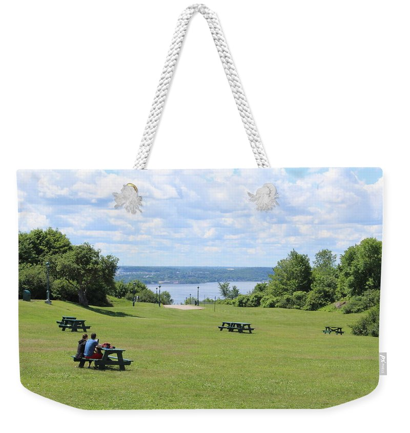 Weekender Tote Bag featuring the photograph Quebec Picnic by Arthur DuBois