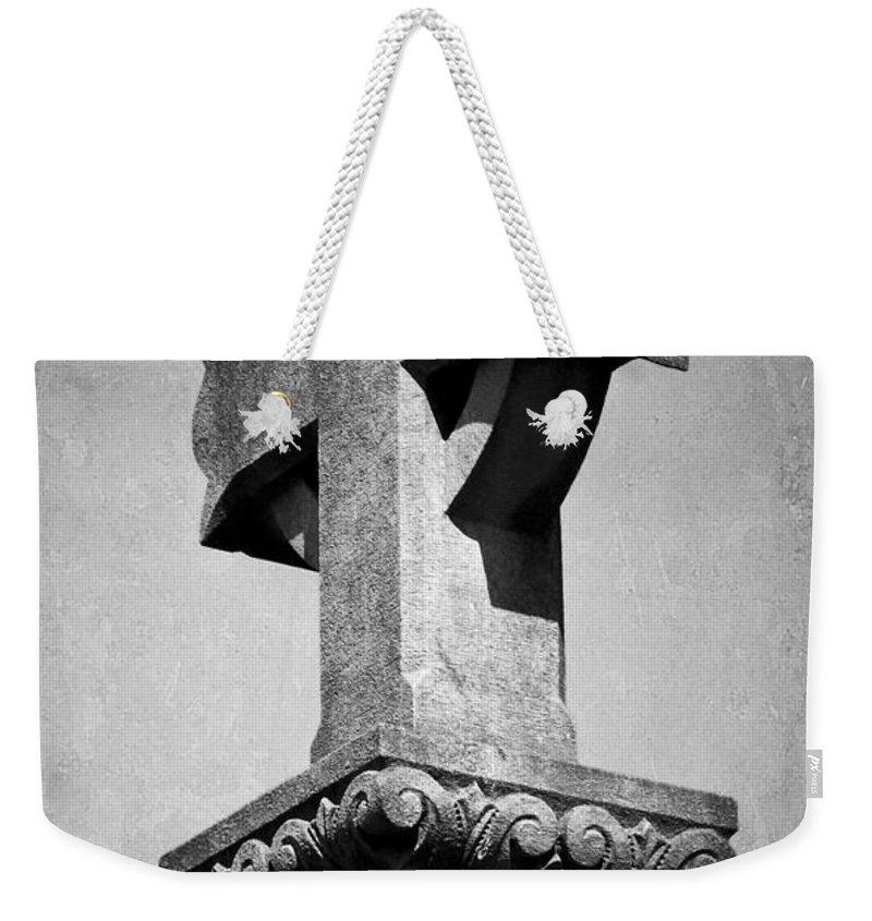 Irish Weekender Tote Bag featuring the photograph Monument Cross Macroom Ireland by Teresa Mucha