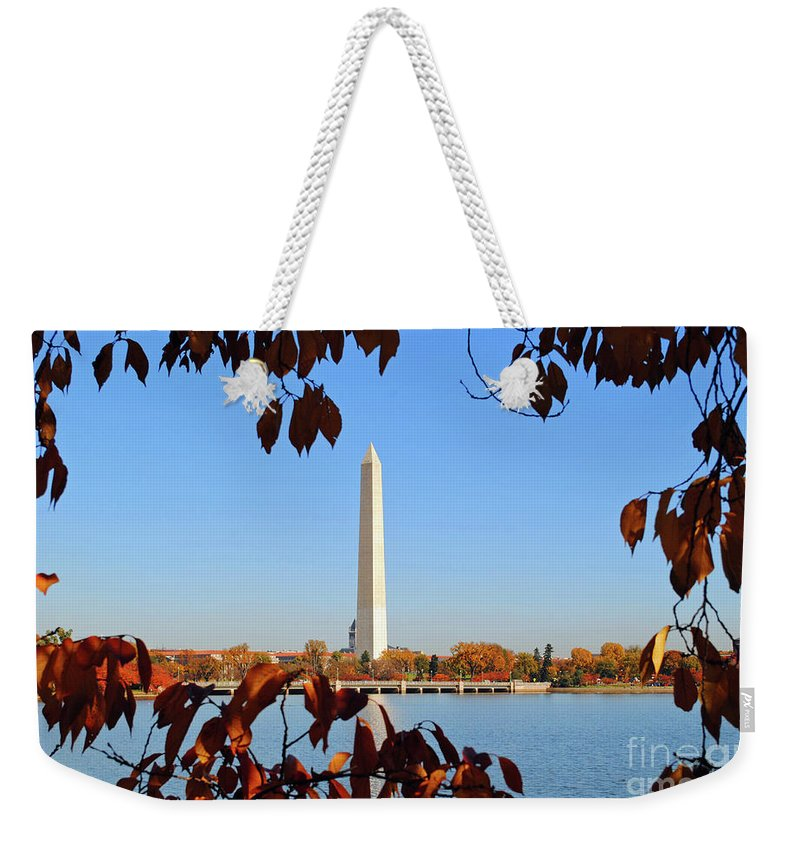 President Weekender Tote Bag featuring the photograph Monument River by Jost Houk