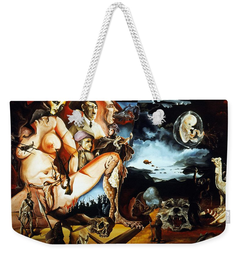War Weekender Tote Bag featuring the painting Monument To The Unborn War Hero by Otto Rapp