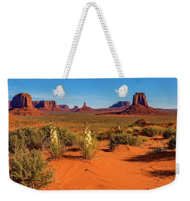 Monument Valley Weekender Tote Bag featuring the photograph Monument Valley by Norman Hall