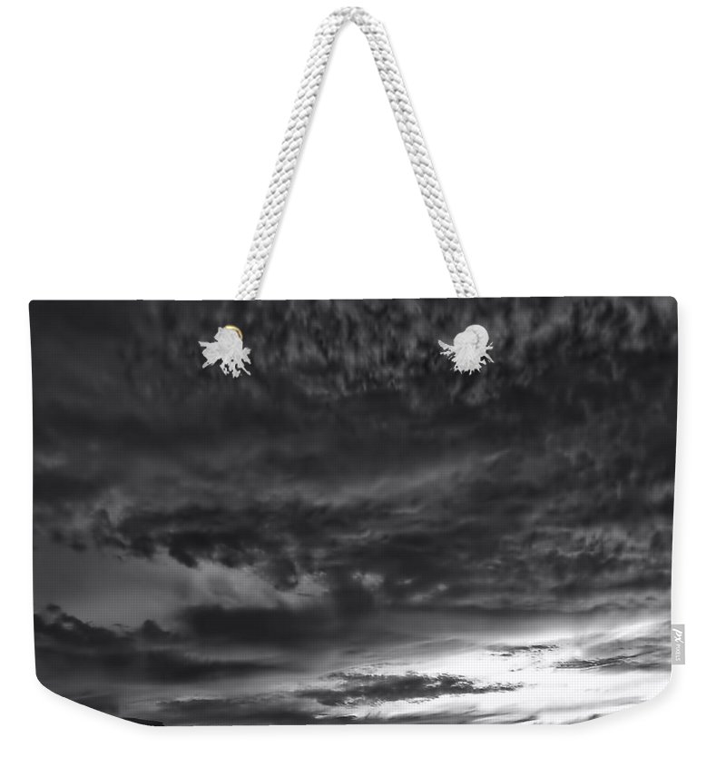 Arizona; Utah: United States; Usa; Southwest; Clouds; America; American; Beauty; Black; Deep; Desert; Environment; Erosion; Formation; Geology; Grand; Weekender Tote Bag featuring the photograph Monumentvalley 49 by Ingrid Smith-Johnsen