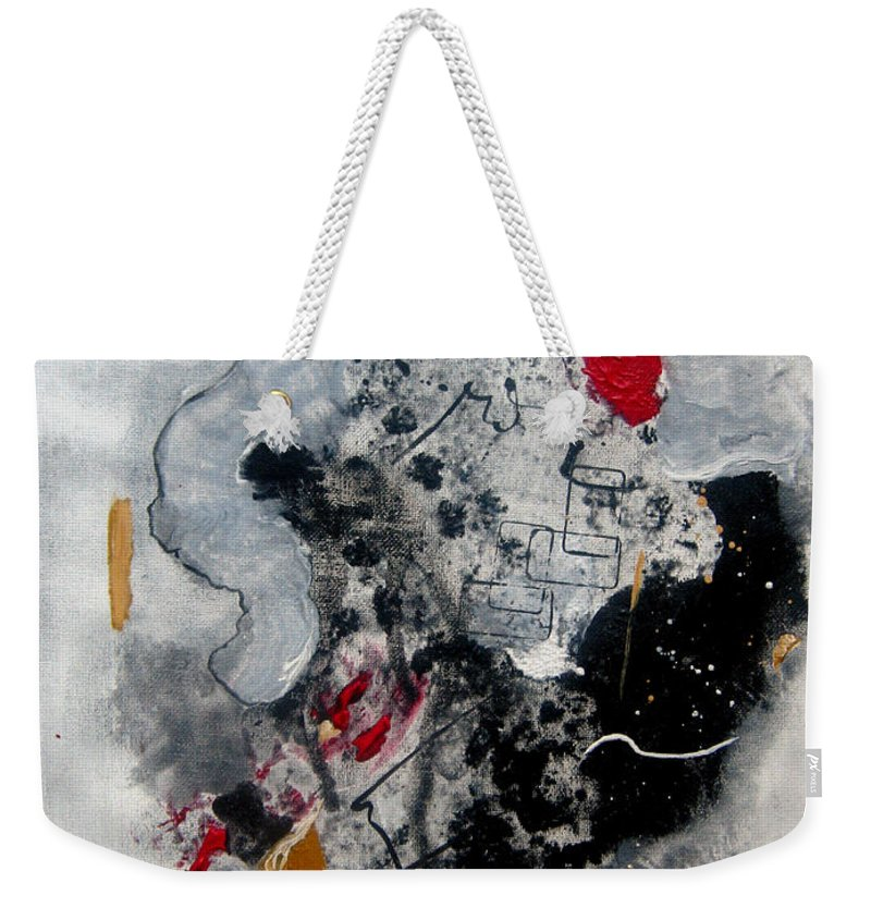 Abstract Weekender Tote Bag featuring the painting Moods II by Ruth Palmer