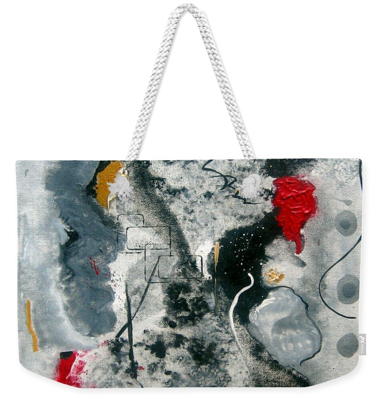 Abstract Weekender Tote Bag featuring the painting Moods by Ruth Palmer