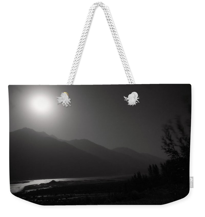 Asia Weekender Tote Bag featuring the photograph Moon Above Pyandzh Valley by Konstantin Dikovsky