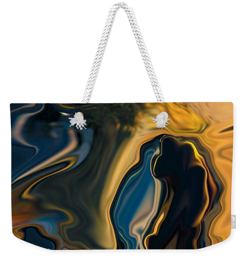 Moon Weekender Tote Bag featuring the digital art Moon And Fiance by Rabi Khan