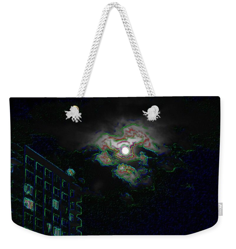 Moon Weekender Tote Bag featuring the photograph Moon Glow by Tim Allen