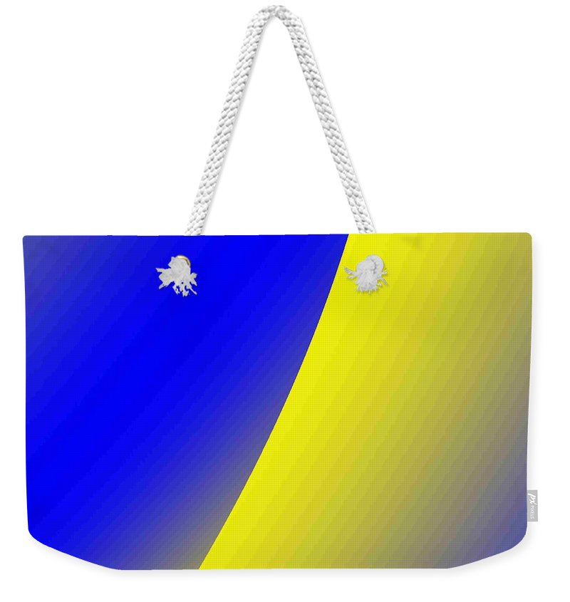 Digital Art Weekender Tote Bag featuring the digital art moon I by Dragica Micki Fortuna