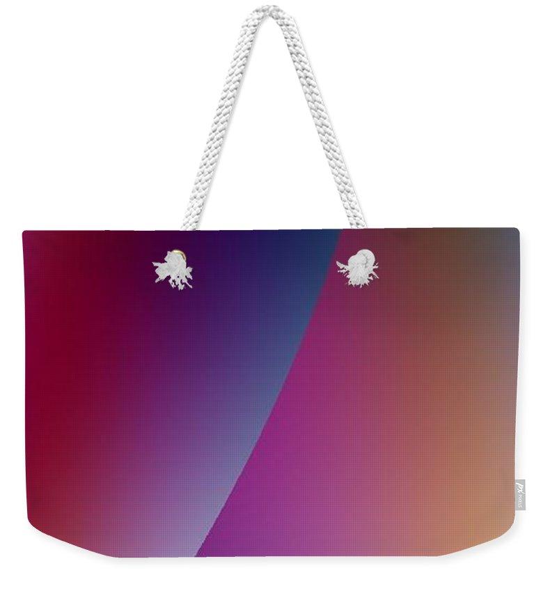 Digital Art Weekender Tote Bag featuring the digital art Moon Iv by Dragica Micki Fortuna