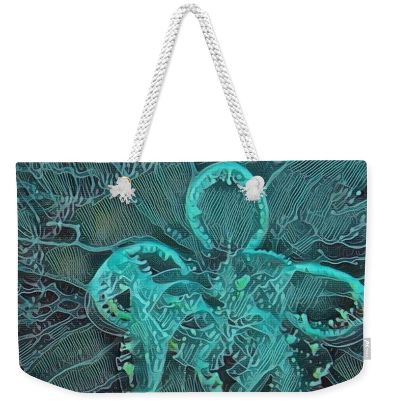 Moon Jelly Weekender Tote Bag featuring the photograph Moon Jellyfish Art by Selena Wagner