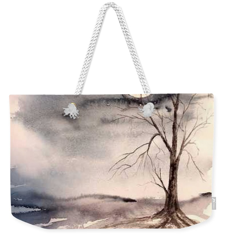 Moon Weekender Tote Bag featuring the painting Moon Light by Derek Mccrea