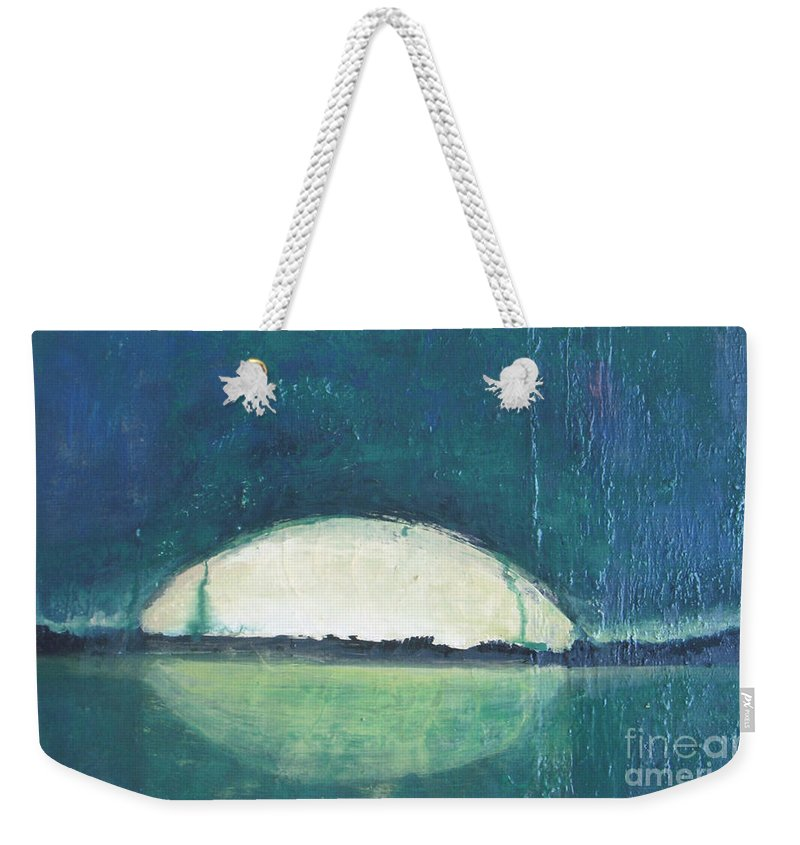 Moon Weekender Tote Bag featuring the painting Moon Light by Vesna Antic