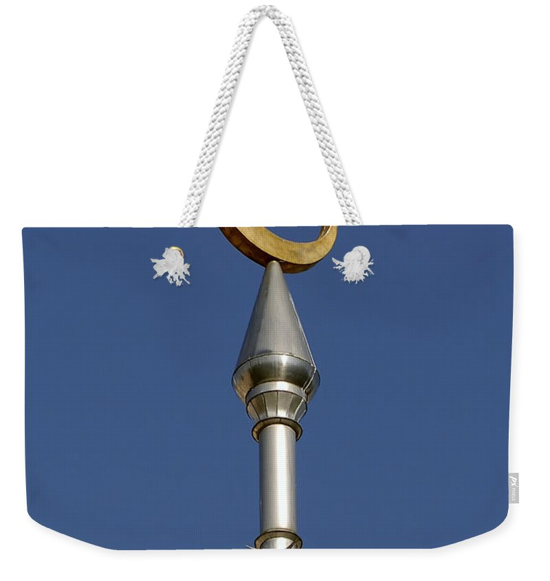 Minarets Weekender Tote Bag featuring the photograph Moon Over Minarets by David Lee Thompson
