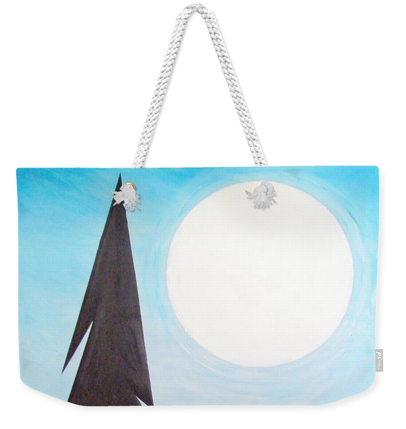Impressionist Painting Weekender Tote Bag featuring the painting Moon Rings by J R Seymour