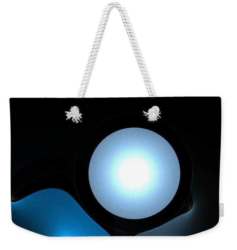 Moon  Weekender Tote Bag featuring the digital art Moon by Steve K