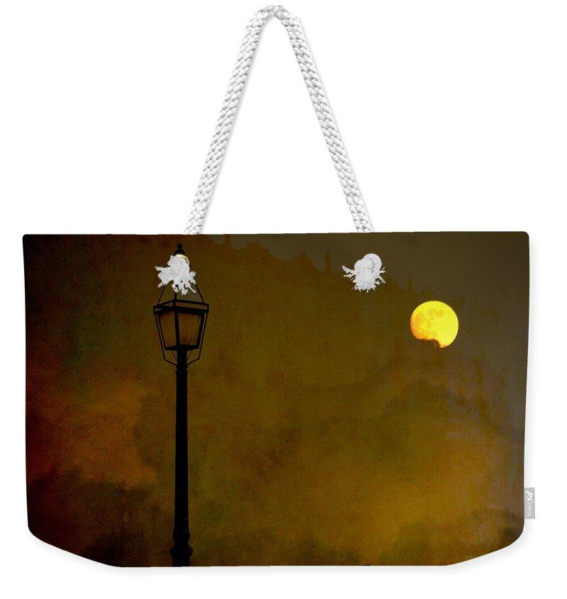 Moon Weekender Tote Bag featuring the photograph Moon Walker by Susanne Van Hulst