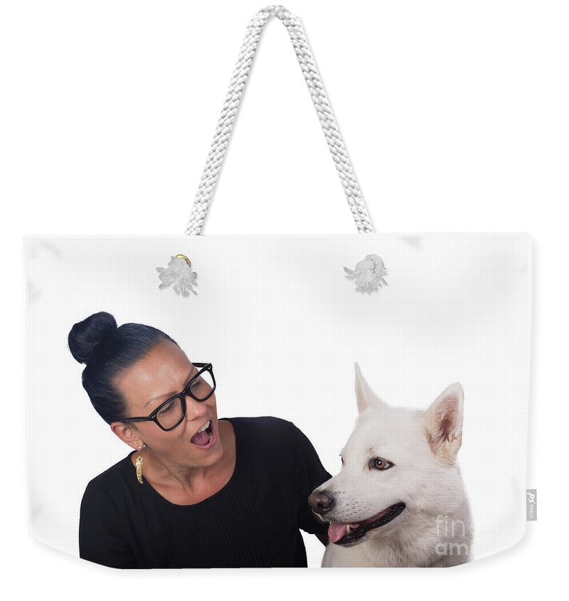 Weekender Tote Bag featuring the photograph Moon1 by Samuel Jokich