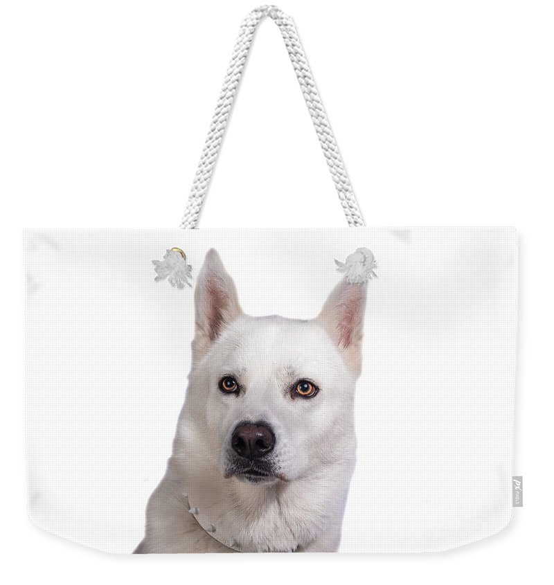 Weekender Tote Bag featuring the photograph Moon2 by Samuel Jokich