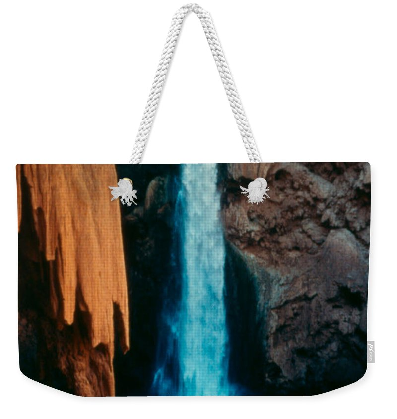 Weekender Tote Bag featuring the photograph Mooney Falls by Heather Kirk