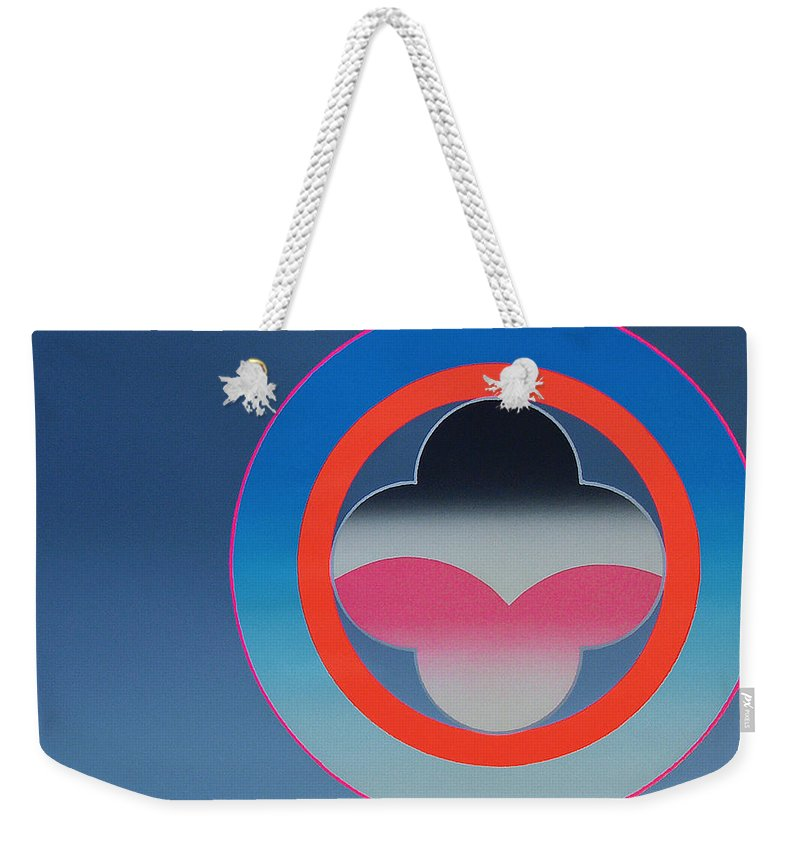 Church Weekender Tote Bag featuring the mixed media Moonlight by Charles Stuart