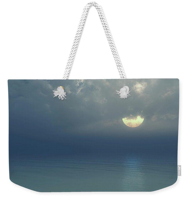 Moon Weekender Tote Bag featuring the digital art Moonlight Serenade by Georgiana Romanovna