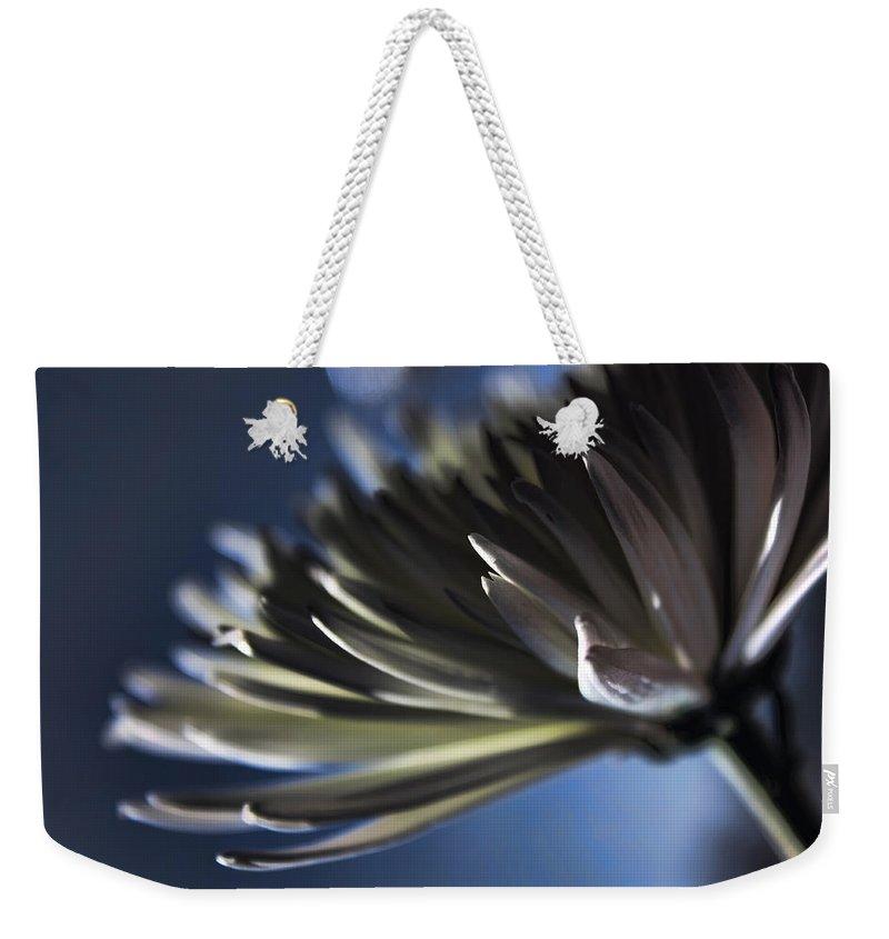 Macro Weekender Tote Bag featuring the photograph Moonlit by Lauren Radke