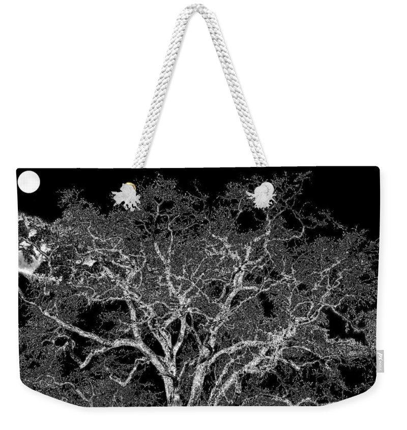 Photo Design Weekender Tote Bag featuring the digital art Moonlit Night by Will Borden