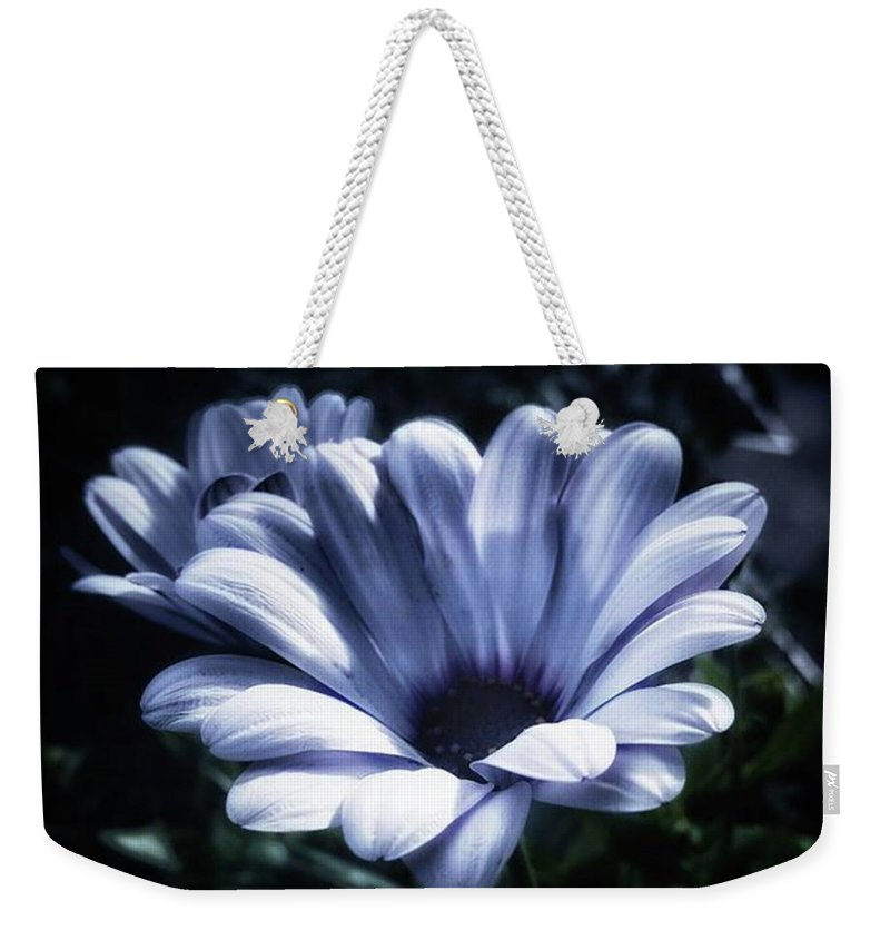 Flower Weekender Tote Bag featuring the photograph Moonlit Petals. From The Beautiful by Mr Photojimsf