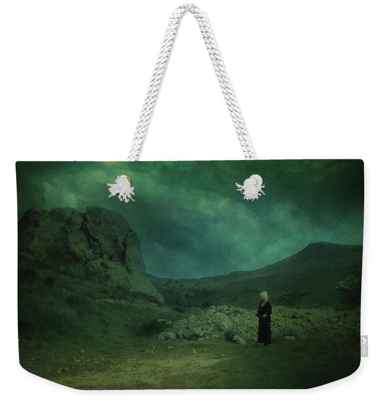 Night Weekender Tote Bag featuring the photograph Moonloop by Zapista