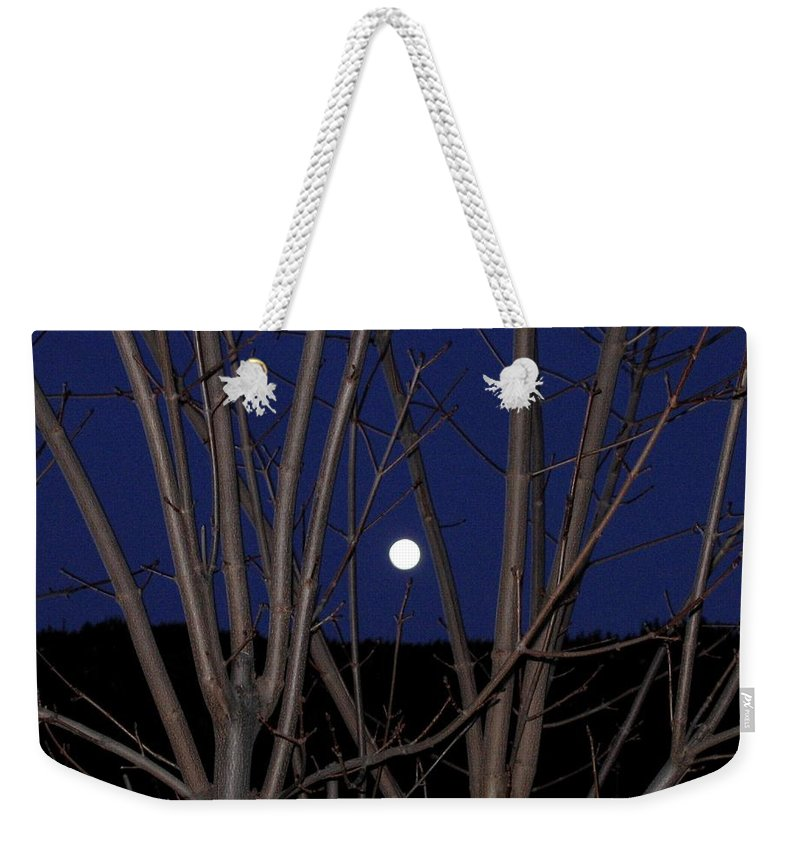 Moon Weekender Tote Bag featuring the photograph Moonrise by Will Borden