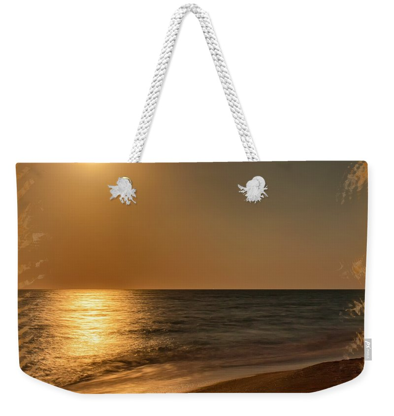 Beach Weekender Tote Bag featuring the photograph Moonscape 3 by John M Bailey