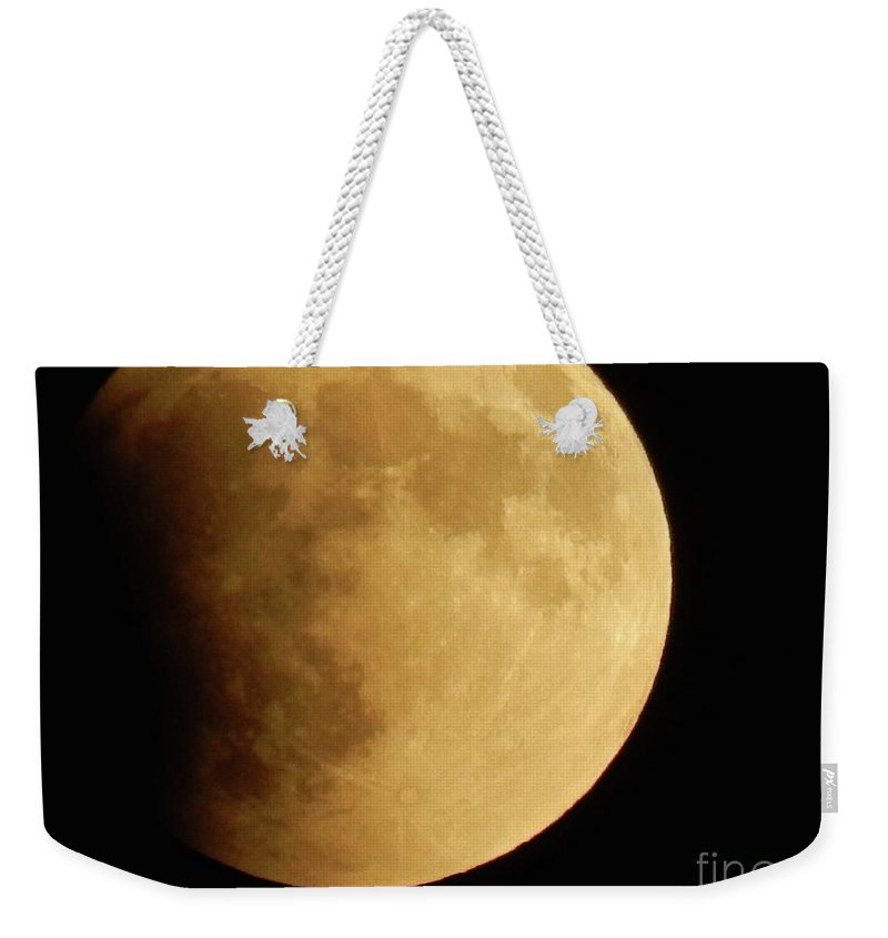 Moonscape Weekender Tote Bag featuring the photograph Moonscape by Viki Velazquez