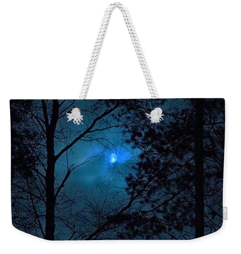 Lehtokukka Weekender Tote Bag featuring the photograph Moonshine 10 Blue Sky by Jouko Lehto