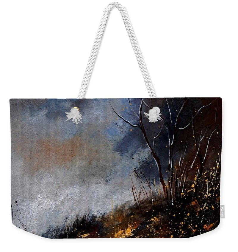 Winter Weekender Tote Bag featuring the painting Moonshine 45901190 by Pol Ledent