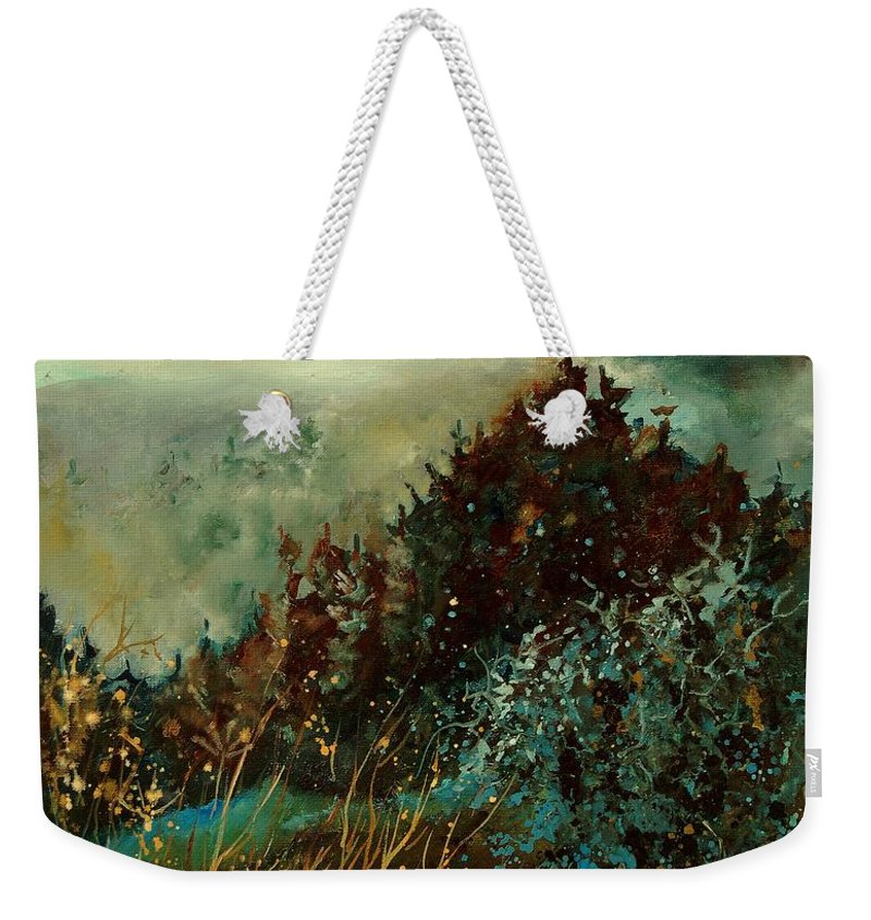 Tree Weekender Tote Bag featuring the painting Moonshine 5642 by Pol Ledent