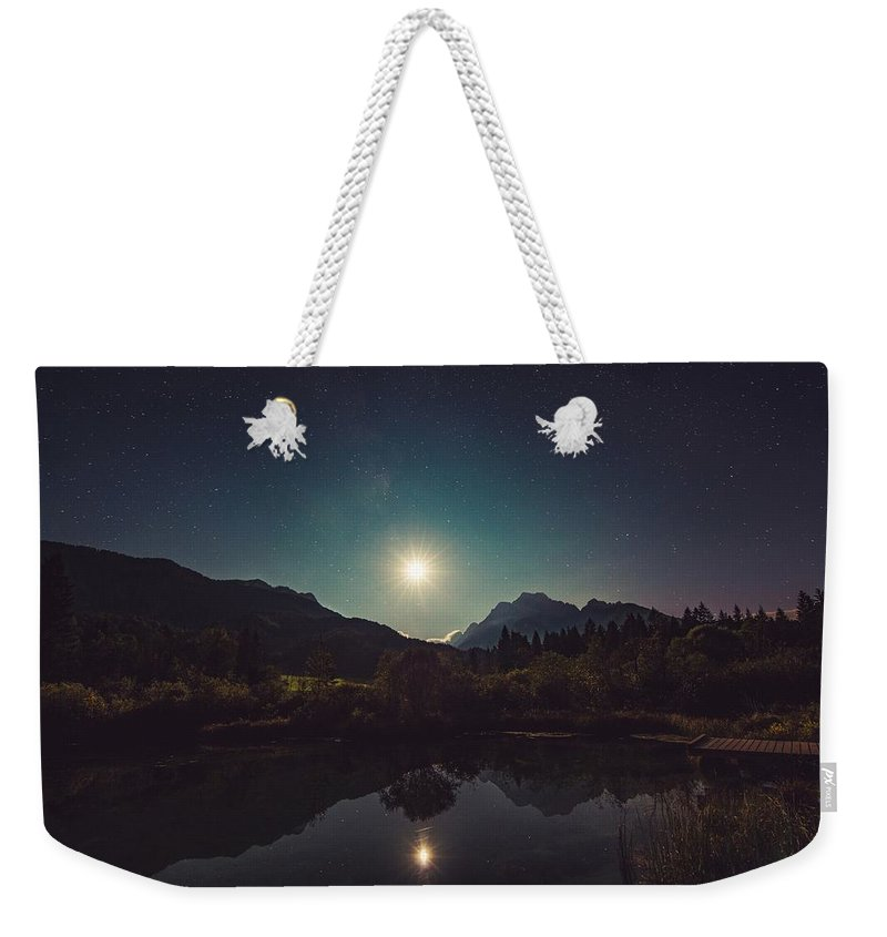 Moon Weekender Tote Bag featuring the photograph Moonshine by FL collection