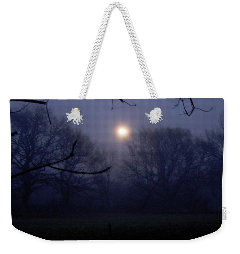 Moon Weekender Tote Bag featuring the photograph Moonshine by Maria Joy