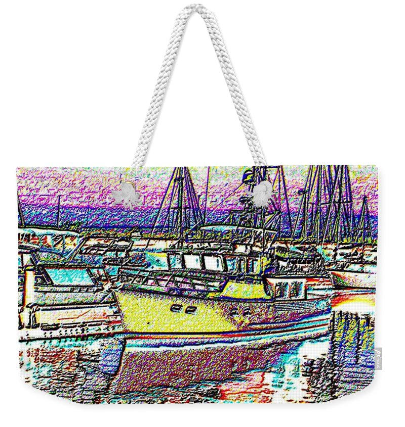 Seattle Weekender Tote Bag featuring the photograph Moorage by Tim Allen