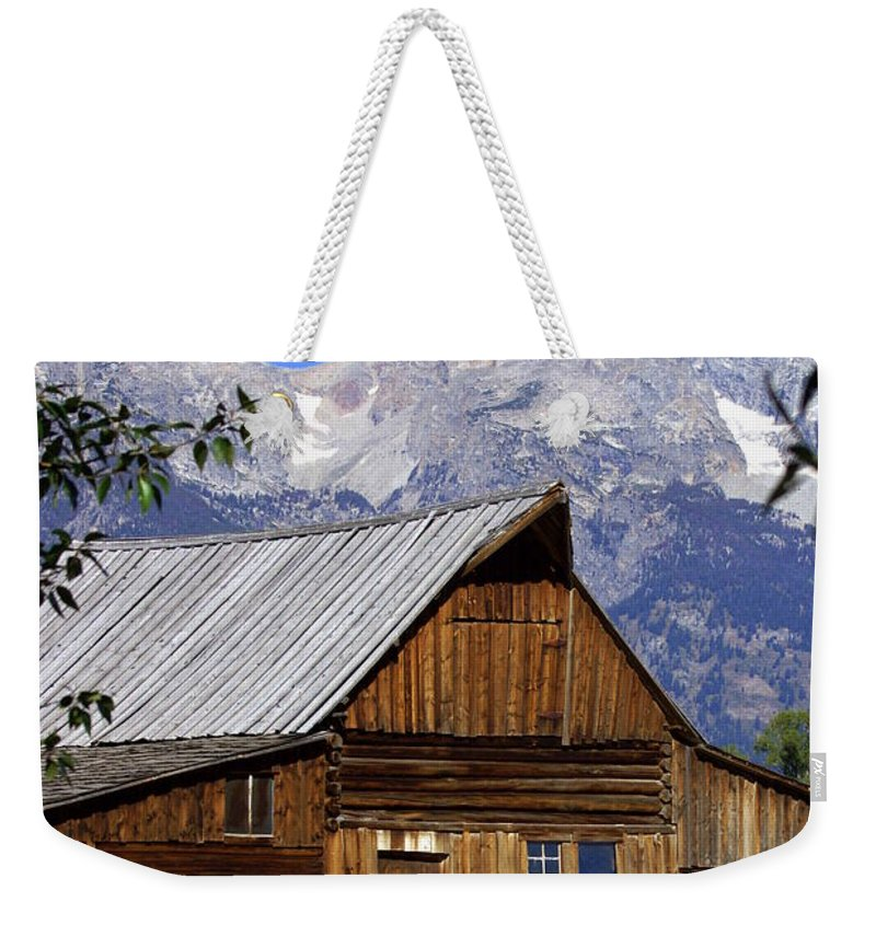 Barn Weekender Tote Bag featuring the photograph Mormon Row Barn 1 by Marty Koch